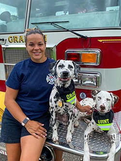 Monica Callahan with Orio and Quint